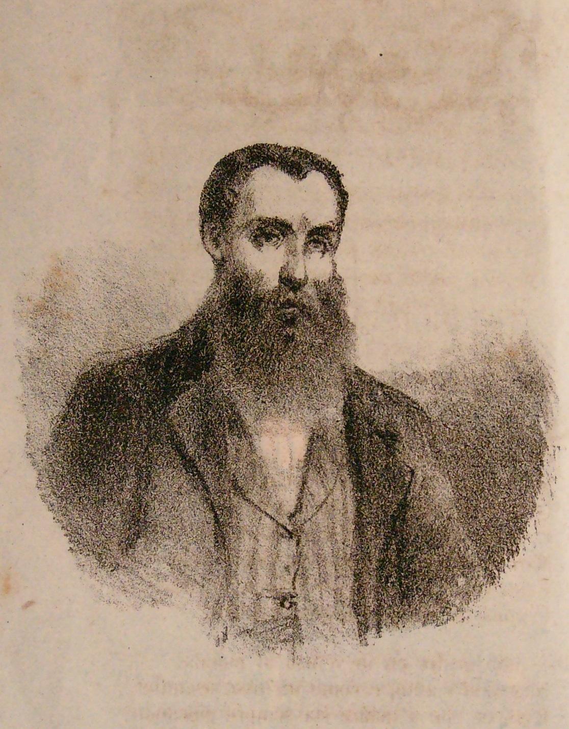 Giovanni Battista Sicheri, ritratto di anonimo dalle Trasformazioni (1864)