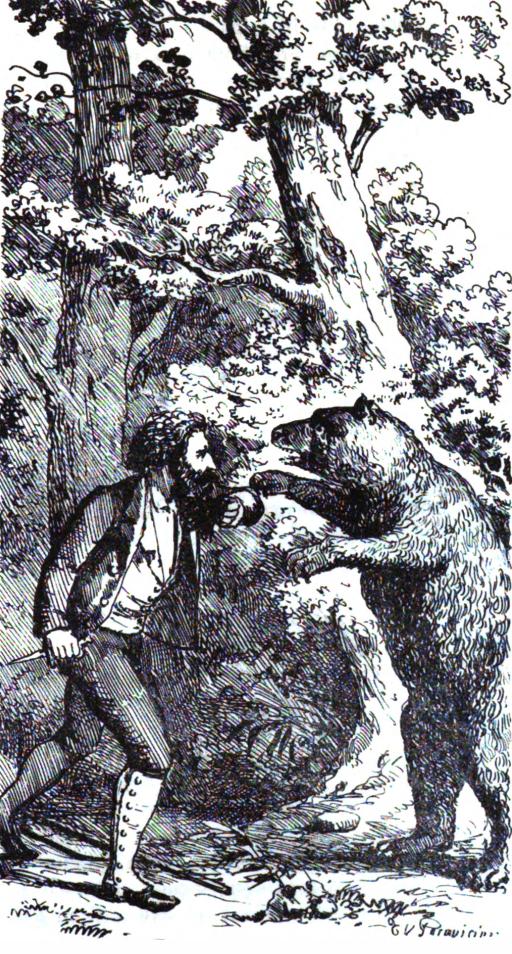 Stampa del Paravicini fra pag. 140 e 141 del Cacciatore dell'Alpi di G. B. Sicheri